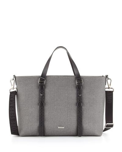 Salvatore Ferragamo Men's New Form Tote Bag, Gray