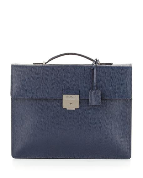 Revival Single-Gusset Briefcase, Blue