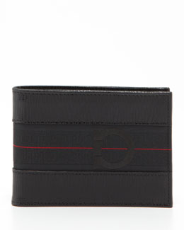 Salvatore Ferragamo Revival Sport Wallet, Black