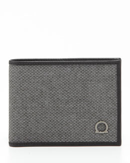Salvatore Ferragamo New Form Bifold Wallet, Gray