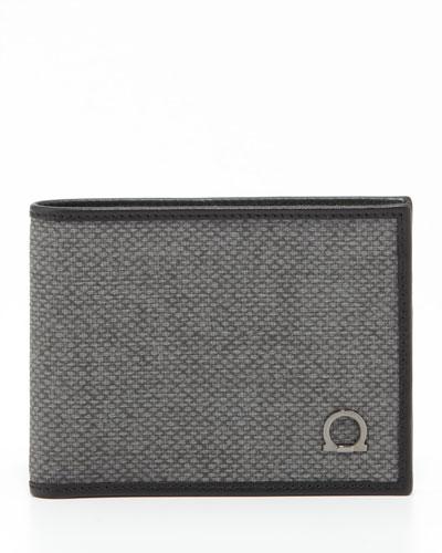 Salvatore Ferragamo New Form Bifold Wallet, Gray