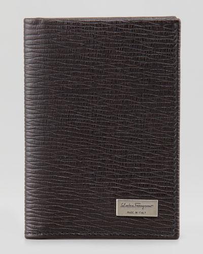 Salvatore Ferragamo Revival Vertical Card Case, Brown