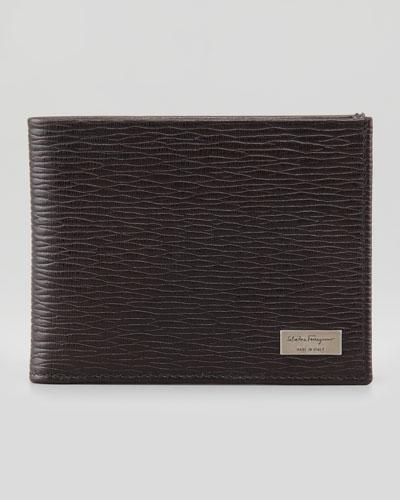 Salvatore Ferragamo Revival Bi-Fold Leather Wallet, Brown