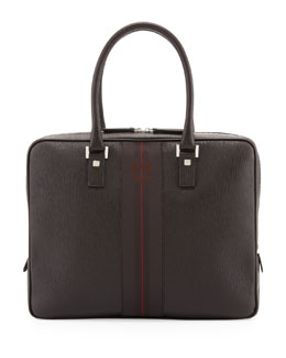 Salvatore Ferragamo Revival II Laptop Case, Brown