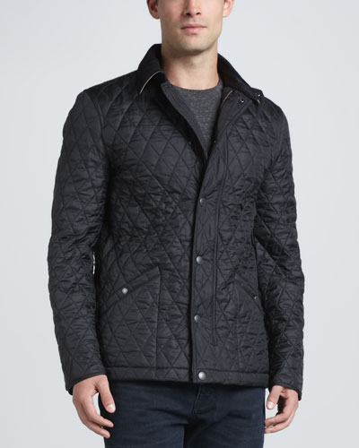 Roden Quilted Jacket, Black