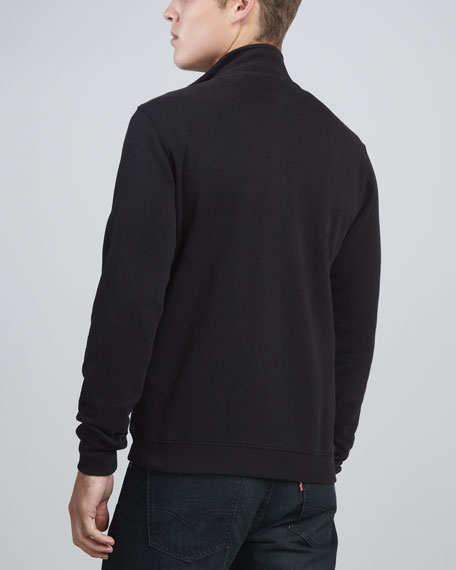 Cotton Zip Jacket, Black