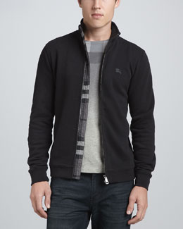 Burberry Brit Cotton Zip Jacket, Black