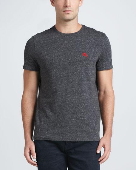 Short-Sleeve Logo Tee, Charcoal