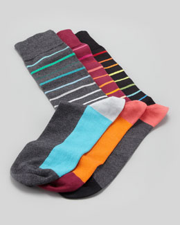 Arthur George by Robert Kardashian Men's Striped Socks, 3-Pack