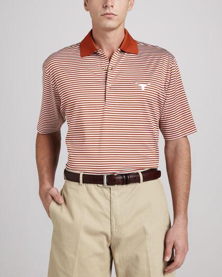 Peter Millar University of Texas Longhorn Gameday Polo College Shirt, Striped