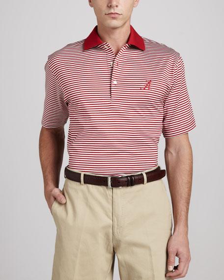 Peter Millar Alabama Gameday Polo College Shirt, Striped