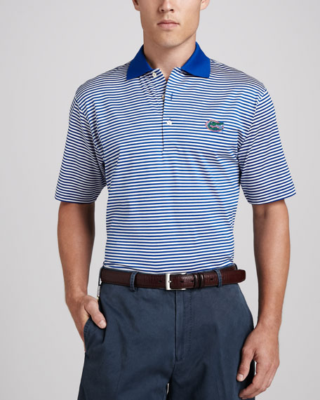 Peter Millar Florida Gators Gameday Polo College Shirt, Striped