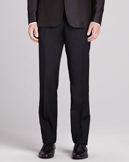 Burberry London Slim-Fit Wool Pants, Black