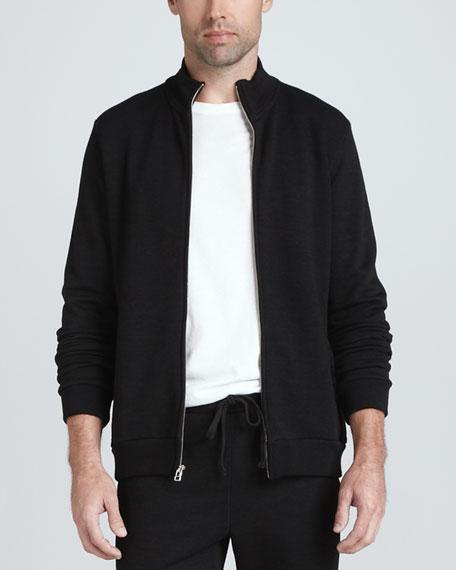 Full-Zip Fleece Jacket, Black