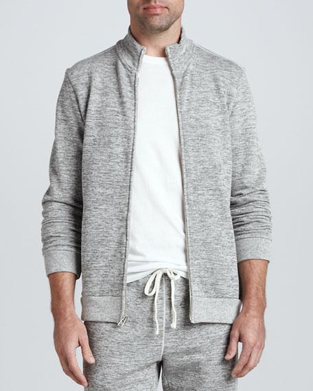 Full-Zip Fleece Jacket, Gray