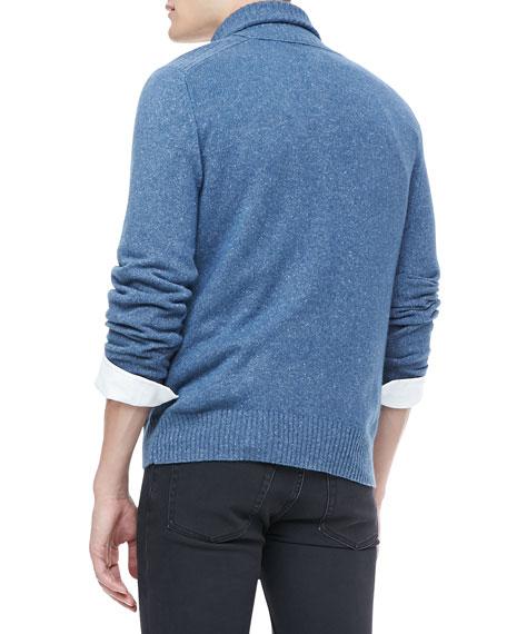 Shawl Collar Sweater, Blue