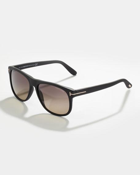 TOM FORD Olivier Polarized Sunglasses, Black