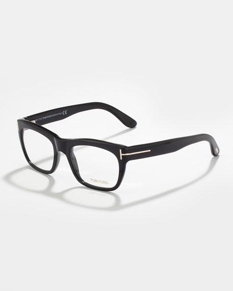 Unisex Semi-Squared Fashion Glasses, Black