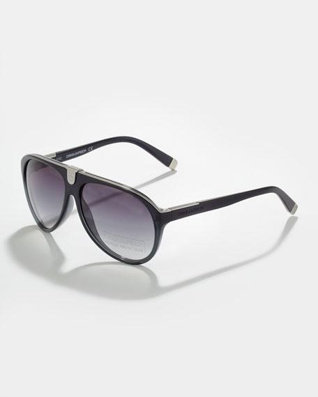 Acetate Aviator Sunglasses, Blue