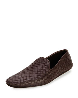 Bottega Veneta Woven Leather Slipper, Brown
