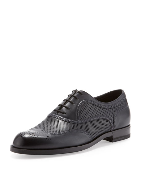 York Perforated Lace-Up, Navy