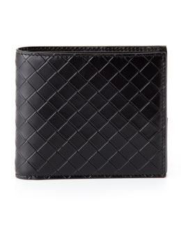 Bottega Veneta Scolpito Leather Wallet, Black