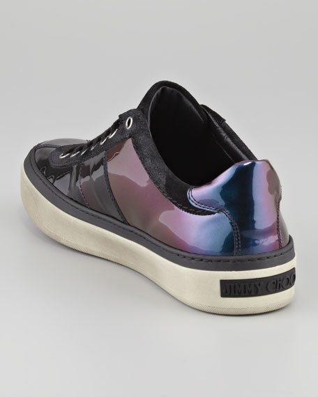 Ombre Patent Leather Sneaker, Purple Mix