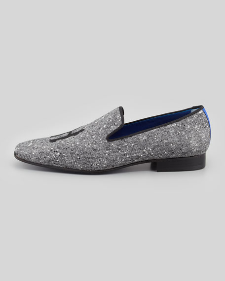 Drake Men's Donegal Tweed Slipper, Gray