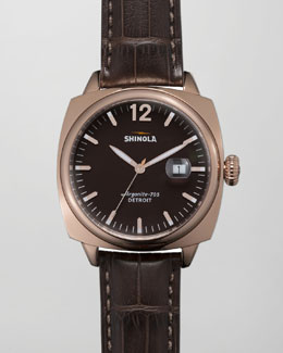 Shinola Brakeman Alligator Men's Watch, Brown