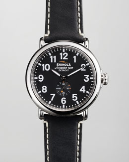 Shinola 47mm Runwell Men's Watch, Black