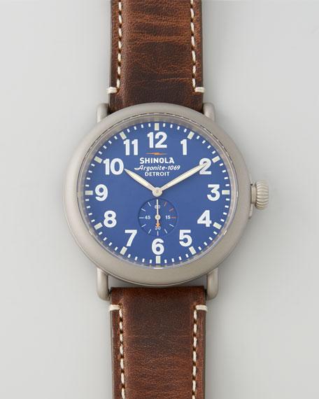 47mm Runwell Men's Watch, Blue