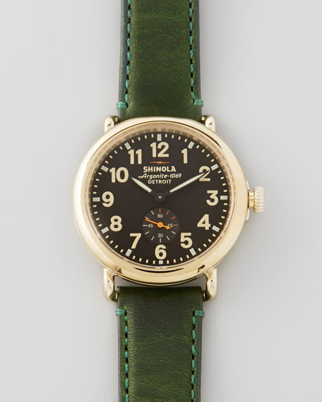 41mm Runwell Men's Watch, Black/Green