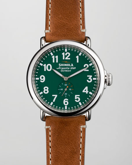 47mm Runwell Men's Watch, Green
