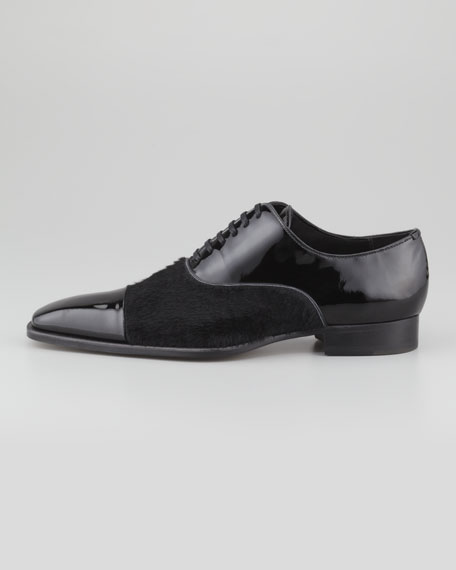 Patent Leather/Ponyhair Oxford