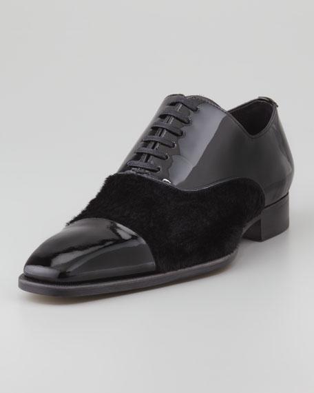 Patent Leather/Ponyhair Oxford