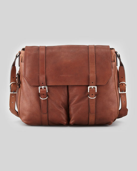 Leather Shoulder Bag, Cognac