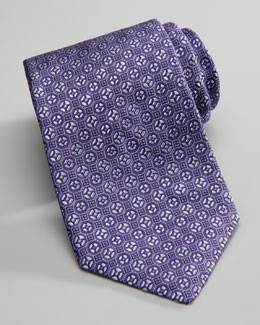 Robert Graham Pentagon-Neat Silk Tie, Purple