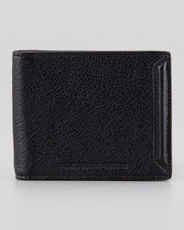 Alexander McQueen Heroic Men's Money Clip Wallet, Black