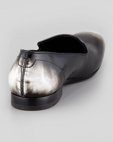 Men's Embossed Skull Loafer, Black/White Ombre