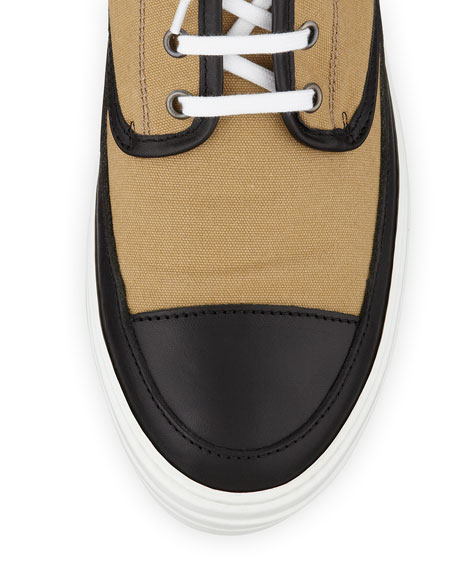 Jungle Men's High-Top Sneaker, Black/Sand