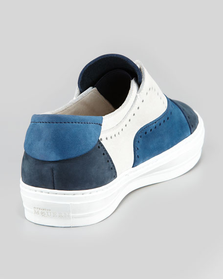 Men's Colorblock Suede Perforated Sneaker