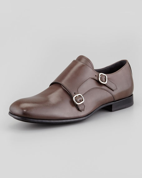 Double Monk-Strap Loafer, Gray