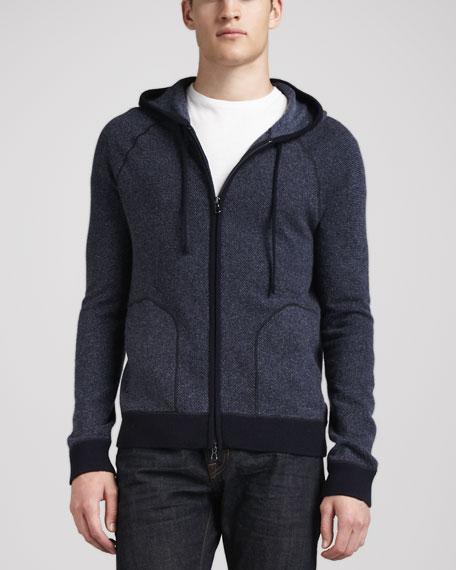 Long-Sleeve Zip Hoodie, Navy