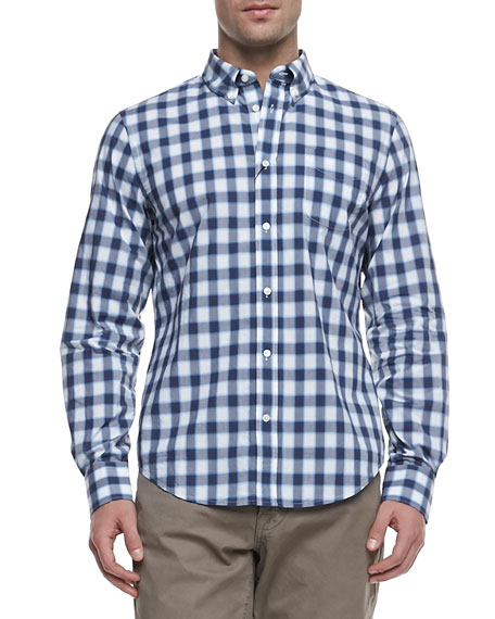 Faded Check Long-Sleeve Shirt