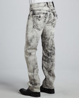 True Religion Ricky Straight Dark Antelope Jeans