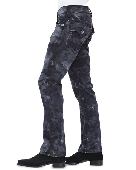 Ricky Big T Camo Jeans, Black