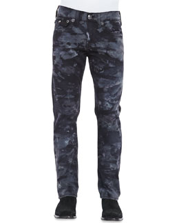 True Religion Ricky Big T Camo Jeans, Black
