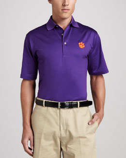 Peter Millar Clemson Tigers Gameday Polo College Shirt, Purple