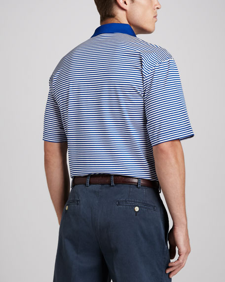 SMU Mustangs Gameday College Shirt Polo, Striped