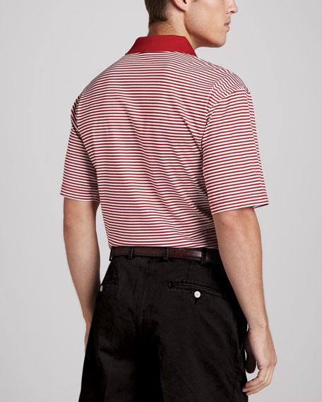 OU Gameday College Shirt Polo, Striped